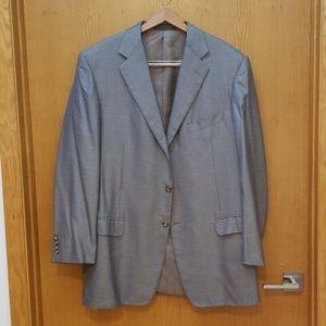 Ermenegildo Zegna Blue Green Silver Blazer 48 Suit